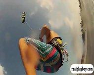 Busty Babes Kite Boarding And Jui Jitsu While Naked - scene 6