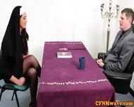 Nuns Tiffany And Emma In Rough Cock Tug - scene 1