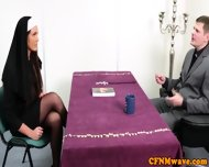 Nuns Tiffany And Emma In Rough Cock Tug - scene 2