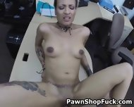 Fucked And Taking Facial In Front Of Husband In Pawn Shop - scene 1