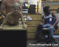 Fucked And Taking Facial In Front Of Husband In Pawn Shop - scene 9