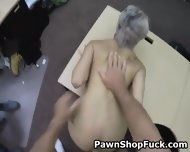 Fucked And Taking Facial In Front Of Husband In Pawn Shop - scene 5