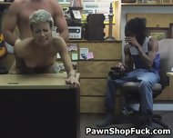 Fucked And Taking Facial In Front Of Husband In Pawn Shop - scene 7