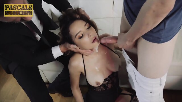 PASCALSSUBSLUTS – Young Busty Francys Belle Dominated by 2 Guys