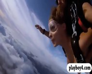 Three Huge Boobs Babes Skydiving Naked From 15000 Feet - scene 6