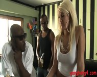 Busty Blonde Ho Layla Price Double Fucked With Black Guys - scene 2