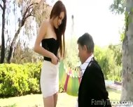 Beautiful Redhead Teen Gets Disgraced By Horny Step Father - scene 7