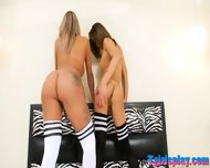 Two Lusty Trannies Fucking Each Others Asses On The Bed - scene 2