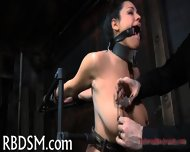Babe In Latex Suit Gets Punished - scene 1