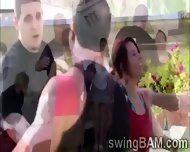 Group Of Swingers Have A Party Outdoors In This Xxx Reality Show - scene 4