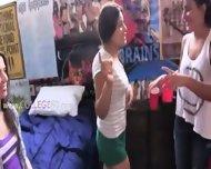 Twister Game Turns Into Cheerleader Groupsex - scene 1
