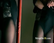 Mysterious Model Masturbates With Dildo - scene 2