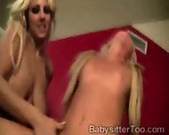 Blonde Nanny And Milf Share Lucky Pervs Huge Piece - scene 6