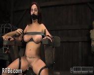 Beauty Is Stripping Inside Cage - scene 8