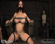 Beauty Is Stripping Inside Cage - scene 10