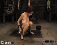 Beauty Is Stripping Inside Cage - scene 2