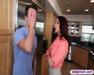 Horny Stepmom Persuaded Teen Girl And Boyfriend For 3some - scene 4