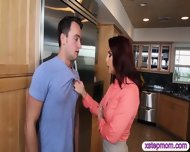 Horny Stepmom Persuaded Teen Girl And Boyfriend For 3some - scene 5