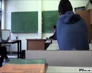 Hot Teen Sucks Her Classmates Cock And Gets Fucked At The Classroom - scene 6