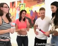 Amateur Sluts Flashing Their Tits In Public During Cash Stunt - scene 10