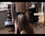 Blonde Pornstar Jessie Making Love - scene 1