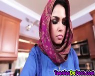 Sexy Arab Teen Ada Does What The Man Of The House Says - scene 2