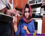 Sexy Arab Teen Ada Does What The Man Of The House Says - scene 3