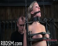 Caged Up Babe Gets Pleasuring - scene 9