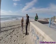 Slamming Blondies Big Ass With Hard Cock On The Beach - scene 1