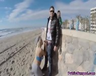 Slamming Blondies Big Ass With Hard Cock On The Beach - scene 2