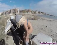Slamming Blondies Big Ass With Hard Cock On The Beach - scene 5