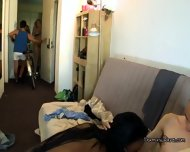 Partying Hard In College Dorm Room With Three Babes - scene 3