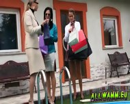 Classy Euro Babes In Messy Mood - scene 4