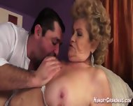 Hairy Granny Muff Gets Some Good Pounding - scene 2