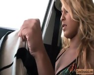 Naughty Blonde Teen Latina Valentina Pounded In The Car - scene 2