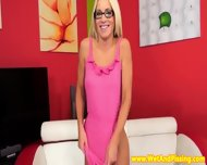 Stunning European Pisslover In Glasses - scene 2
