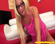 Stunning European Pisslover In Glasses - scene 4