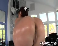 Juicy Butt Gets Covered With Oil - scene 1