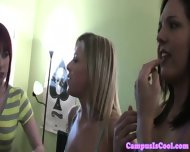 Young Coed Giving Lesbian Show - scene 1