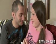 Chubby Teen Rides Erect Shaft - scene 4