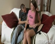 Chubby Teen Rides Erect Shaft - scene 5