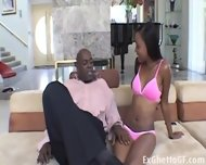 Cute Black First Time Rides A Huge Cock - scene 2