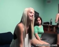 College Amateur Hotties Sucking Dick At Dorm Room Party - scene 3