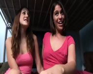 Cheerleader College Girls Sucking Big Dick - scene 2