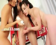 Incredible Threesome Games With Cream - scene 1