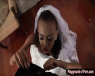 Janice Griffith In Bridal Gown Screwed Up And Cum Showered - scene 2