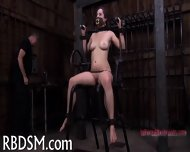 Chained Up Babe Is Punished - scene 8