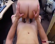 Big Ass Brunette Babe Pawns Her Pussy And Fucked By Pawn Man - scene 10