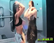 Czech Teen Girls At Hot Shower Dance Party - scene 5