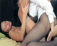 Luxury Babes In Stockings Enjoying Strap - scene 8